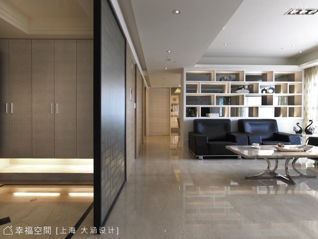 菱形優雅概念貫穿全室
