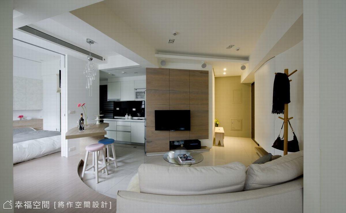 蜜月居12坪:優雅弧線劃出2房2廳