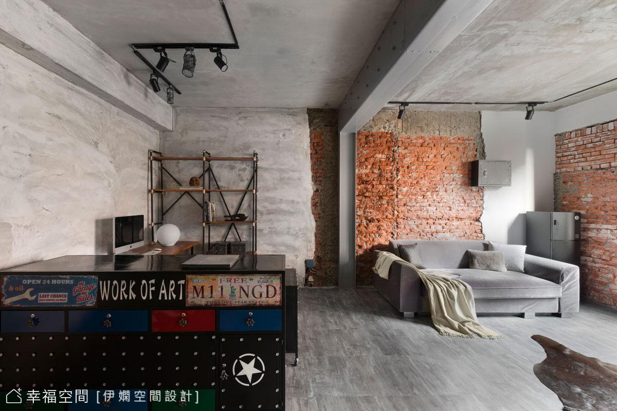 翻新半世紀老屋,粗獷工業風宅複合攝影工作室