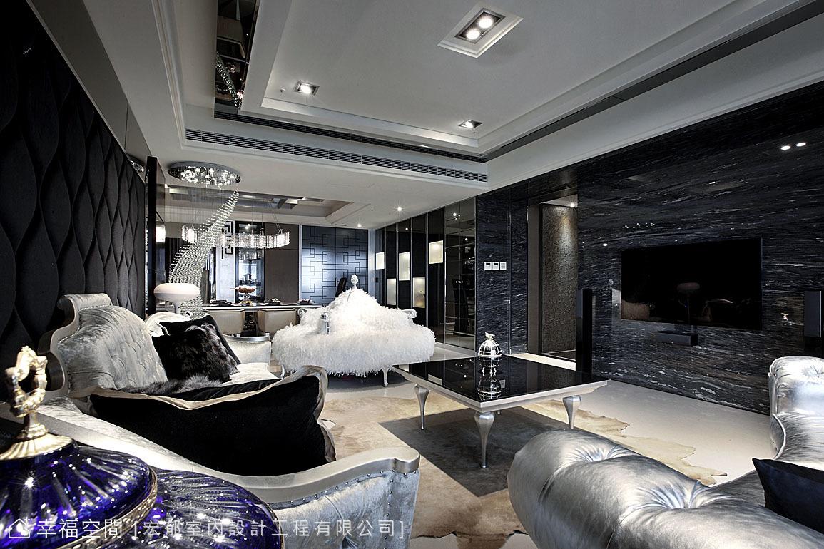 黑色時尚華麗宅 品味不凡氣度