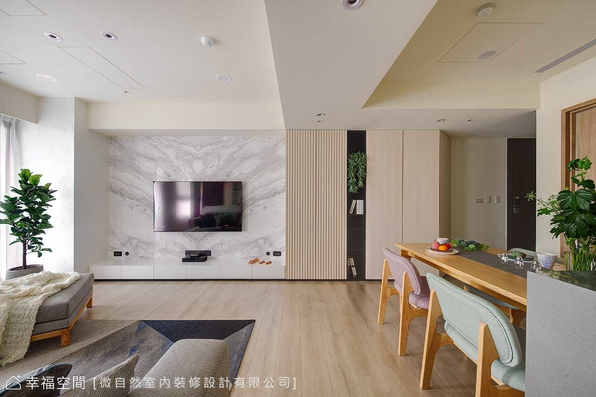 光影廊道 小3房變身大公共空間|北歐風|30坪