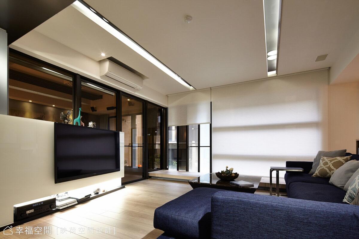[亞洲設計獎 入圍作品] 光的流轉,異材質混搭現代感空間
