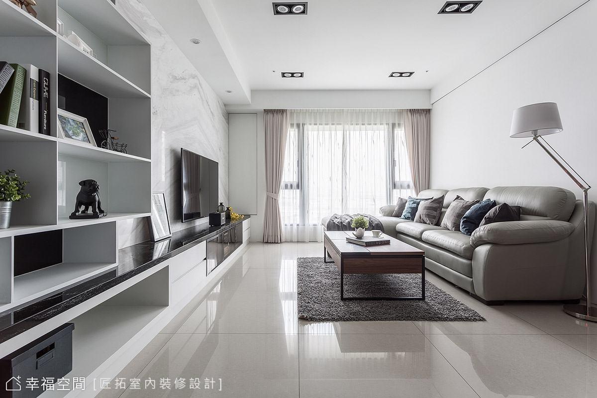 極簡黑白配 明亮簡潔自在居