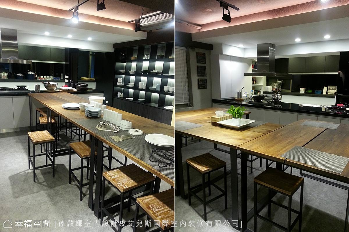 像家一樣舒適靜謐的私廚空間