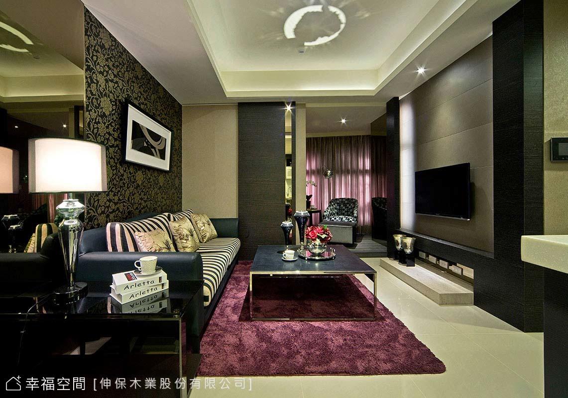 深淺對比色 展現低調奢華的居家空間