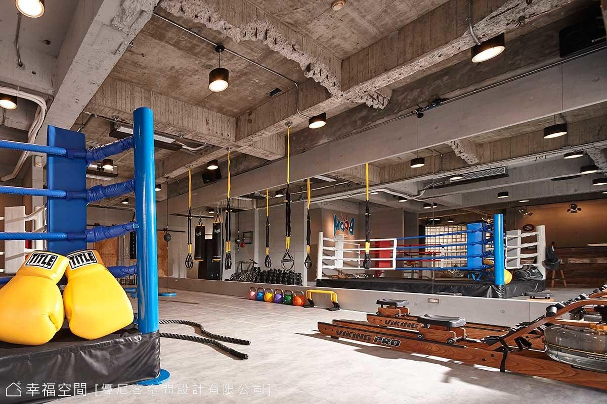 時尚新體驗 粗獷工業風健身房