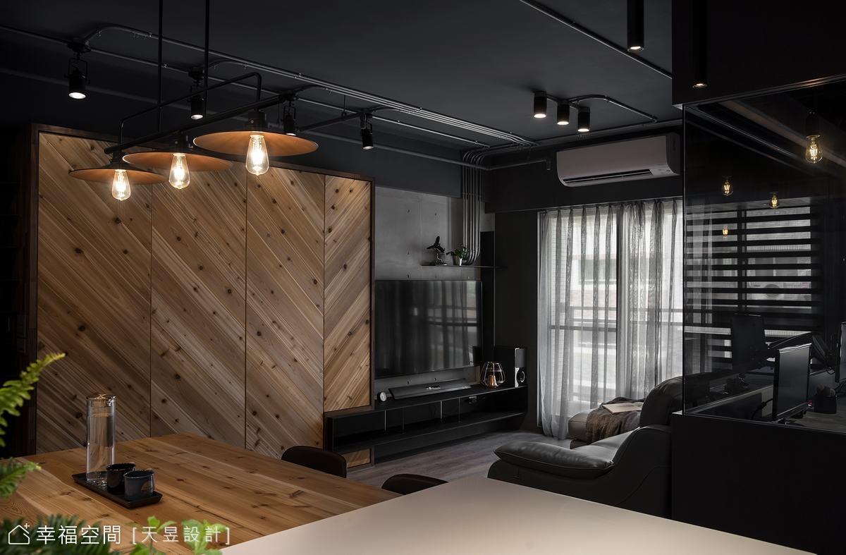 Warm loft house