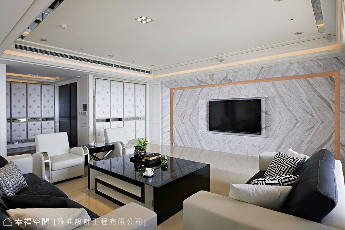 微奢時尚-黑白現代新古典 竹北景觀宅邸