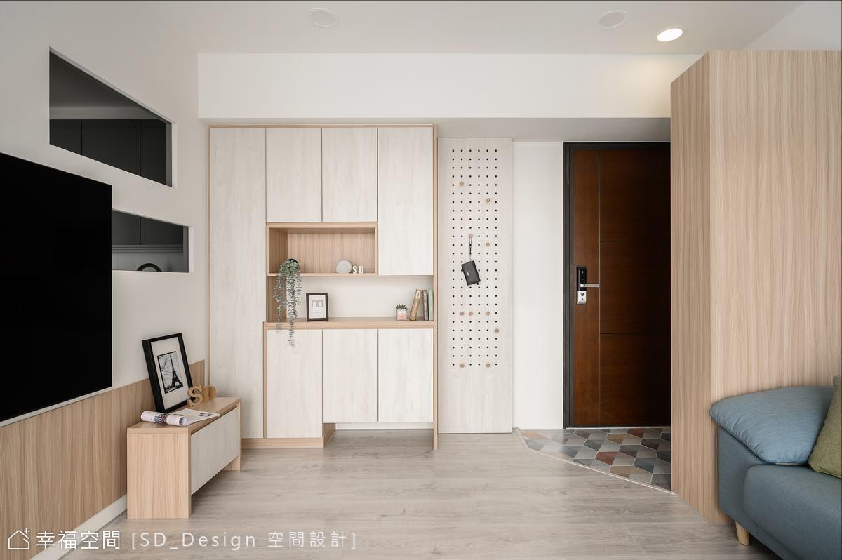重整格局展新貌 北歐休閒宅|北歐風、休閒多元|25坪|2房、2廳