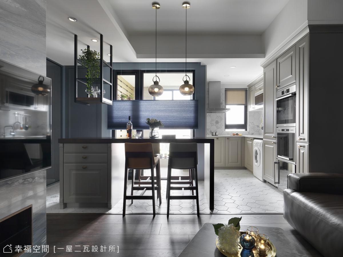 木質系灰藍曲調|英式混搭寓所|小坪數
