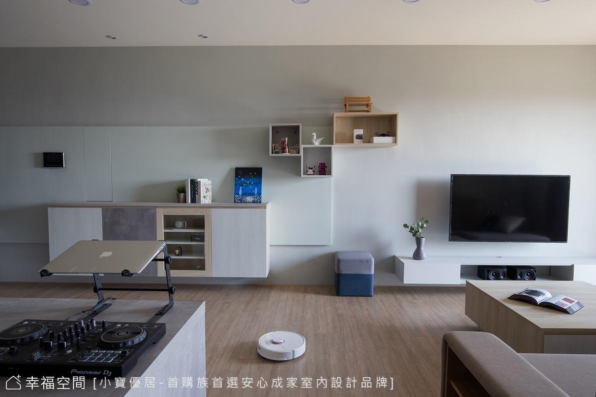 輕描淡雅宜人光景 構畫小倆口的愜意日常|休閒多元、混搭風、日式風|30坪|3房、2廳、2衛