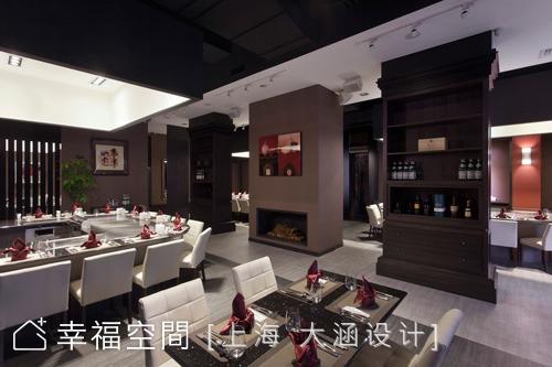 尊貴質感 深色古典鐵板燒餐廳