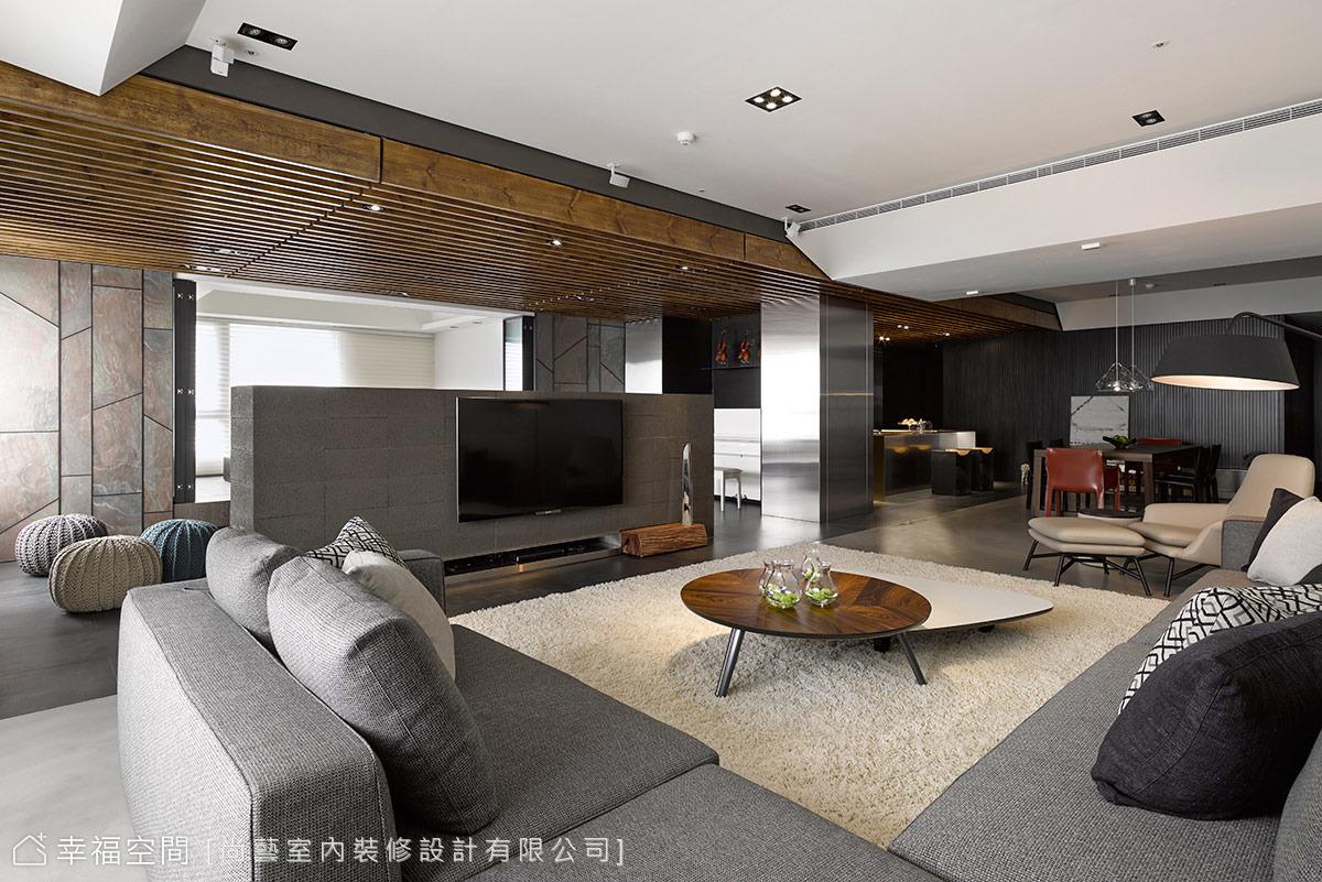 開闊空間尺度 營造居家會所氛圍