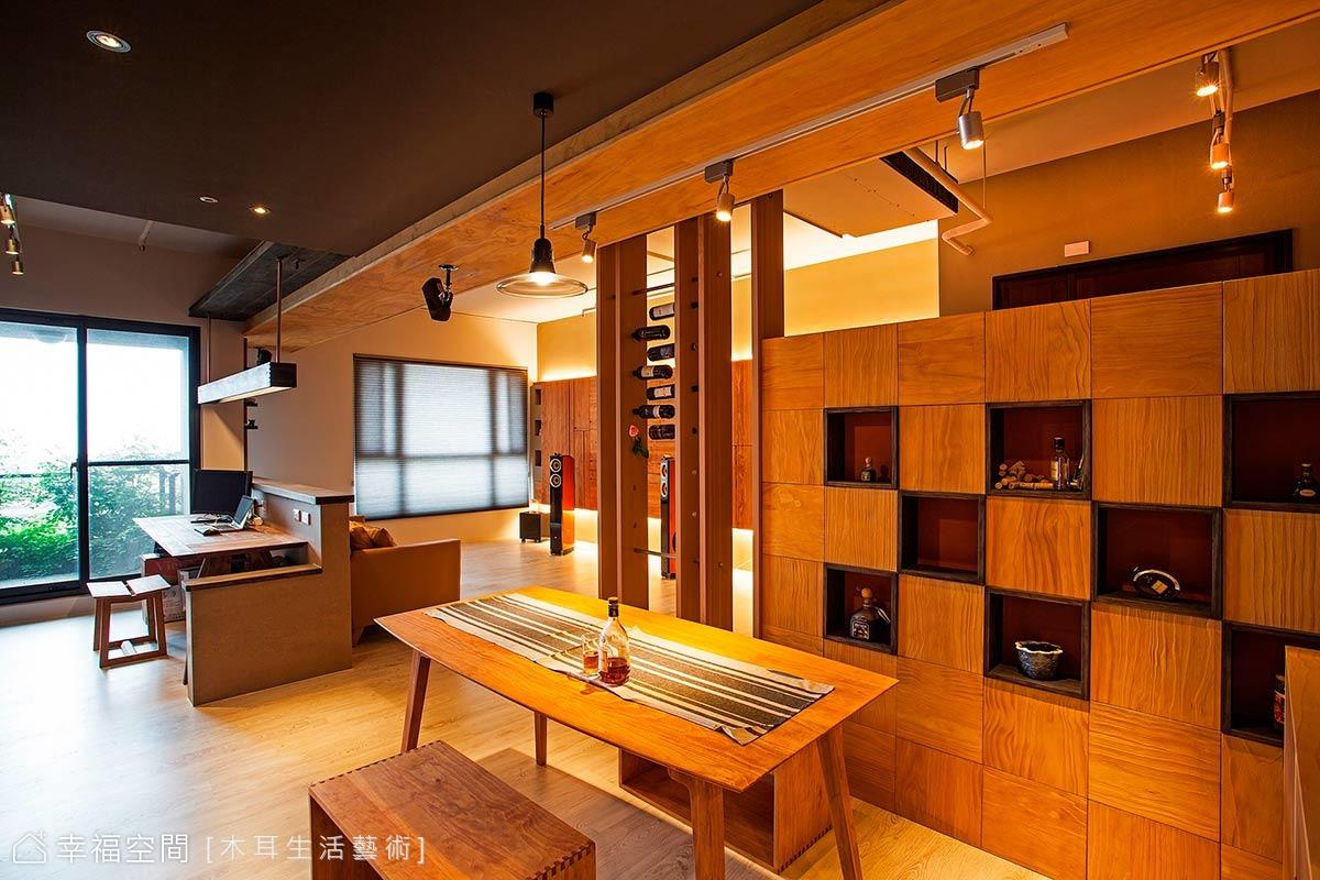 面面俱到的空間表情 美型機能實木居宅