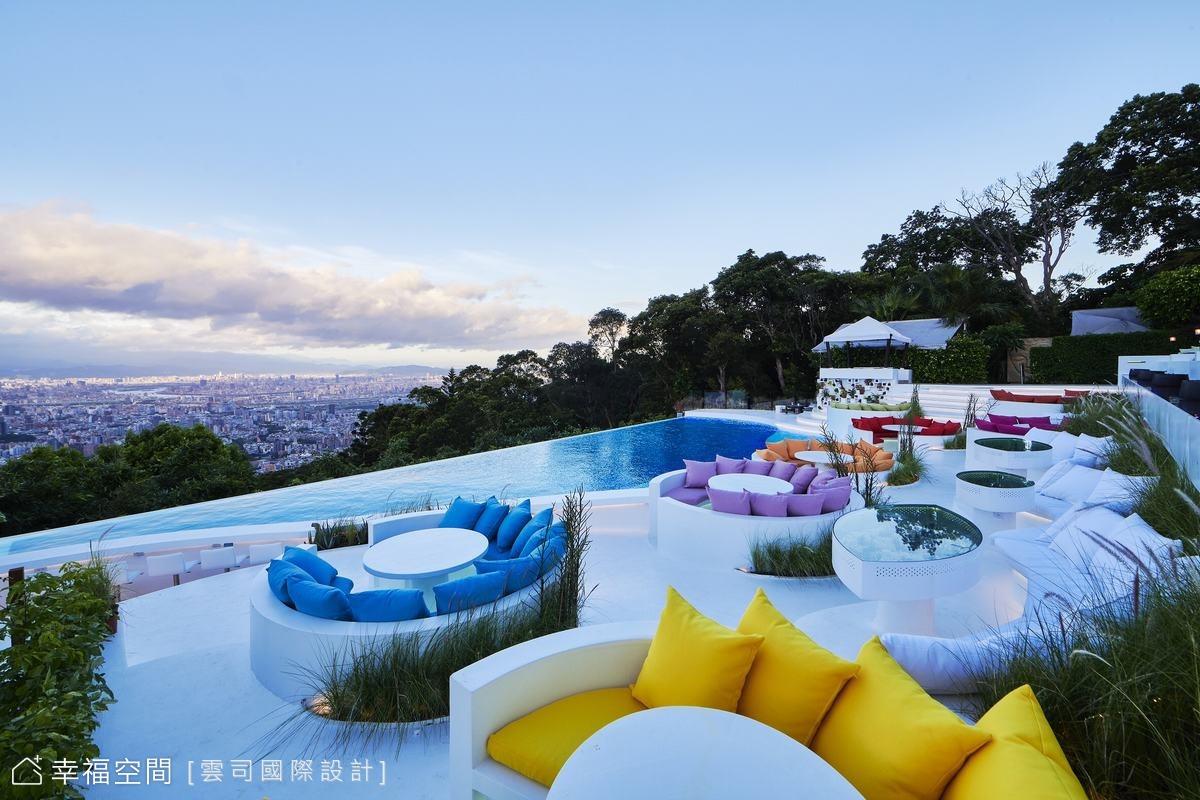 台北無敵夜景 陽明山屋頂上景觀餐廳 異國風情