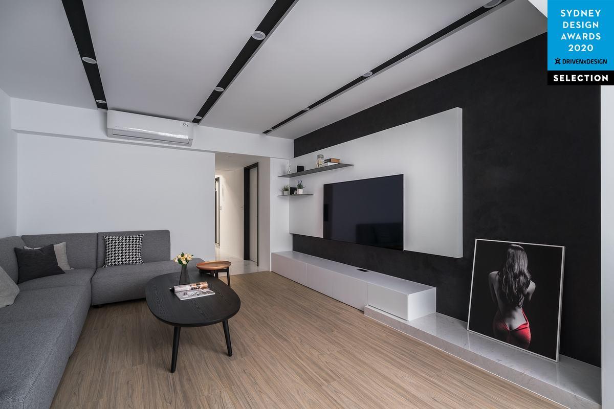 淨與靜的節奏  交織出簡潔清新退休宅